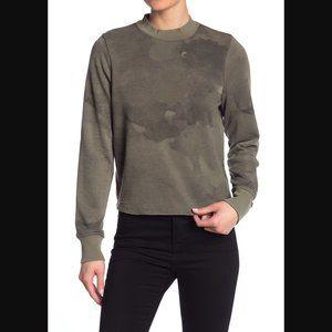 Alternative Mock Neck Knit Sweatshirt S
